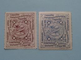 PRAGUE 1896 - Int. PHARMACEUTICAL Exhibition PHARMACIE ( Sluitzegel Timbres-Vignettes Picture Stamp Verschlussmarken ) - Seals Of Generality