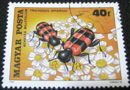 Hungary 1980 Insects Polinating Plants 40f - Used - Hungary