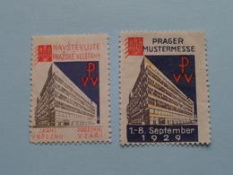 PRAG 1929 MUSTERMESSE Prague PVV ( Sluitzegel Timbres-Vignettes Picture Stamp Verschlussmarken ) - Seals Of Generality