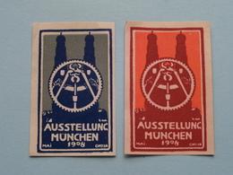 AUSSTELLUNG MÜNCHEN 1908 / 5 Different ( Sluitzegel Timbres-Vignettes Picture Stamp Verschlussmarken ) - Seals Of Generality