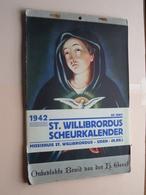 1942 - St. WILLIBRORDUS Scheurkalender / MISSIEHUIS  St. Willibrordus UDEN Noord Brabant NEDERLAND !!! - Big : 1941-60
