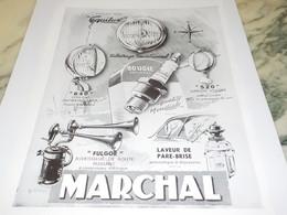 ANCIENNE PUBLICITE  PENSEZ VACANCES AVEC  MARCHAL 1951 - Transports