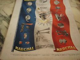 ANCIENNE PUBLICITE GARANTIE  AVEC  MARCHAL 1951 - Transports