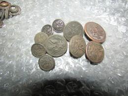 10 Dug WW1 US Buttons - 1914-18
