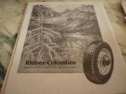 ANCIENNE PUBLICITE   PNEU KLEBER COLOMBES  1946 - Aviation Commerciale