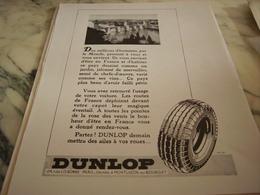 ANCIENNE PUBLICITE PONT VALENTRE ET PNEU   DUNLOP 1946 - Transports