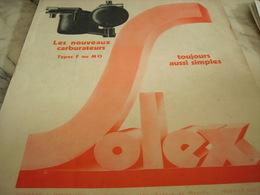 ANCIENNE PUBLICITE CARBURATEUR  SOLEX A STARTER 1931 - Transport