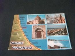 SALUTI DA GIULIANOVA VEDUTE CARTA GEOGRAFICA - Carte Geografiche