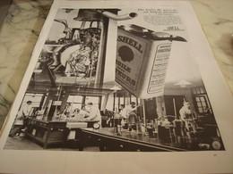 ANCIENNE PUBLICITE DU PUIT DE PETROLE  SHELL 1930 - Publicités