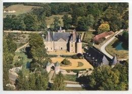 """Le Château De Semur En Vallon - Vue Aérienne """"châteaux Sarthois N°2699 Cp Vierge) - France"""