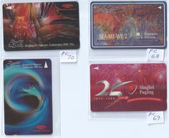 Phonecard - 4 Pcs Singapore Telecom 25 Years Celebrations SEA-ME-WE 2 (L37) - Phonecards