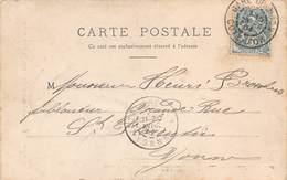 D-19-143 : CARTE POSTALE CACHET MANUEL. GARE DE DIJON. COTE D'OR. 1904 - Marcophilie (Lettres)