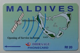 MALDIVES - GPT - Opening Of Service In Seena - 7MLDA - Rf 20 - 1000ex - MINT - Maldiven