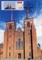 DANEMARK / DENMARK (2009) - Carte Maximum Card - ATM - ROSKILDE Cathedral / Domkirke - Friemarkenforum 09 - Tarjetas – Máximo