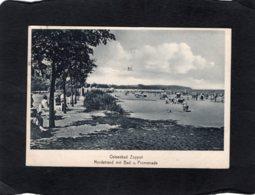 82550    Germania,   Ostseebad Zoppot,  Nordstrand Mit Bad U. Promenade,  VG  1930 - Polen