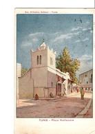 TUNIS. - Place Halfouine + Rue Des Selliers + Place Bab-el-Fella. (Em. D'Amico, Editeur - Tunis) LE LOT DE 3 CPA. SCAN. - Tunesien