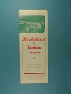 Rochehaut & Frahan Sur-Semois Ardenne Belge - Dépliants Touristiques
