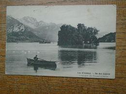 """Lac D'annecy , île Des Cygnes """""""" Carte Animée Embarcation """""""" - Annecy"""