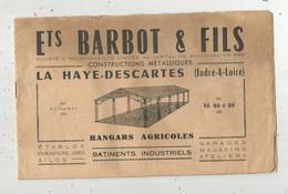 Publicité, Constructions Métalliques ,LA HAYE DESCARTES ,Indre Et Loire ,hangars Agricoles , 5 Scans ,  Frais Fr 2.25 E - Publicités