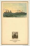 Menu  Dessin ROYON Compagnie Belge Maritime Du Congo CMB  CHARLESVILLE - Voyage Commandant HANNON 1954 - Menus