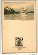 Menu  Dessin ROYON Compagnie Belge Maritime Du Congo CMB  -  CHARLESVILLE - Voyage Commandant HANNON 1954 - Menus