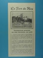Le Fort De Huy - Dépliants Touristiques