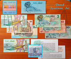 Cook Islands Complete Set Of 1987 (Matching S/N, Specimen, Proof, Commemorative) - Cook