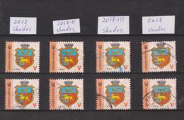 2017 - 2018 Ukraine 8-9th Definitive Used Stamps With Colour Varieties - Ukraine