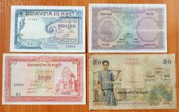 Cambodia 1, 5, 10 And 50 Riels 1955-1956 - Cambodge