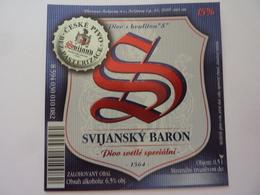 "Etichetta ""SVIJANSKY BARON"" - Birra"
