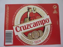 """Etichetta """"CRUZCAMPO"""" - Birra"""