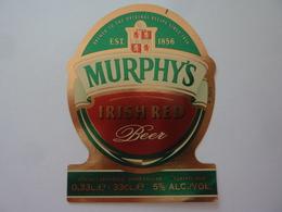 """Etichetta """"MURPHY 'S IRISH REED"""" - Birra"""