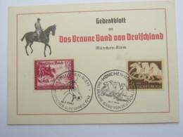 1942 , Propagandakarte : Braunes Band - Deutschland