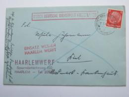 1941 , HAARLEMWERF , Brieven - Periode 1891-1948 (Wilhelmina)