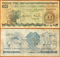 Rwanda - Burundi 100 Francs 1960 P-5 - Ruanda-Urundi