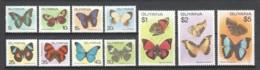 Guyana 1978 Mi 542-552 MNH BUTTERFLIES - Papillons