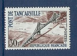 N° 1215b TANCARVILLE INSCRIPTION EN BLEU CLAIR * - Variétés Et Curiosités