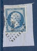 N° 14 OBLITERE MCM TTB SUR FRAGMENT - 1853-1860 Napoléon III