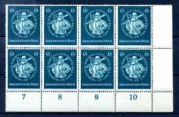 Z41513)DR Plattenfehler 896 Schantl F 37 ER-8er-Block** - Errores De Grabado