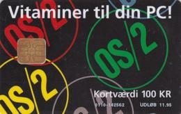 Denmark, DD 037a, Ibm Os/2, Only 4500 Issued, 2 Scans. - Danemark