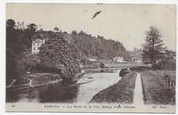 (RECTO / VERSO) SAINT LO EN 1917 - N° 66 - LES BORDS DE LA VIRE - HALAGE D' UNE GABARRE - BEAU CACHET - CPA VOYAGEE - Saint Lo