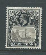 Ascension 1925 1/2d KGV FM - Ascension
