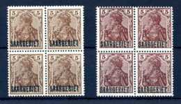 Z45623)Saar 44 A + B Je VB**, Signiert - 1920-35 Société Des Nations