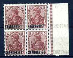 Z45635)Saar 44 Rand-VB Mit Blinddruck**, Signiert - 1920-35 Société Des Nations