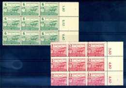 Z47330)SBZ 85/86 A, 9er-Block Mit Verzähnung** - Zone Soviétique
