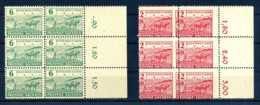 Z47334)SBZ 85/86 A, 6er-Block Mit Verzähnung** - Zone Soviétique