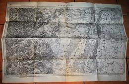 Rare Carte état Major Région De Strasbourg 100% Originale Révisée En 1901 - Topographical Maps