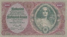 5;000 COURONNES 1922 - Autriche