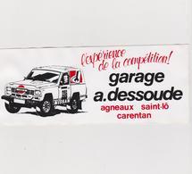 Autocollants : Voiture  Paris - Dakar :  équipage Dessoude , Agneaux, Saint Lo , Carentan - Autocollants