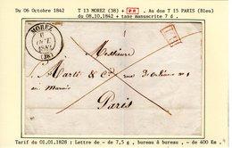 Jura : T 13  MOREZ   + P.P.  Sur LSC E 1842 - 1801-1848: Précurseurs XIX
